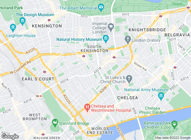 Map for Foxtons, South Kensington