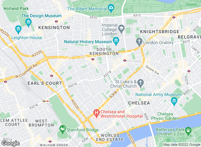 Map for Knight Frank - Lettings, South Kensington