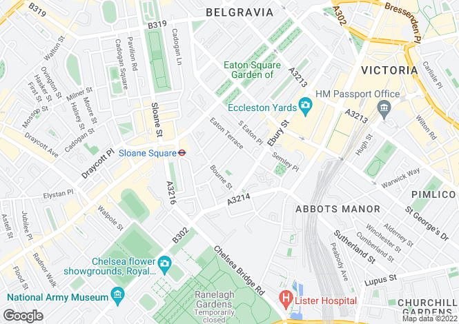 Map for Graham Terrace, Belgravia, London SW1W 8JE