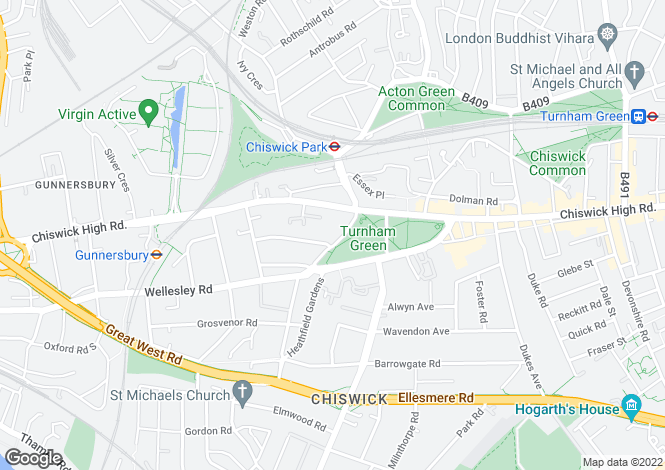 Map for Church View House, Turnham Green, W4