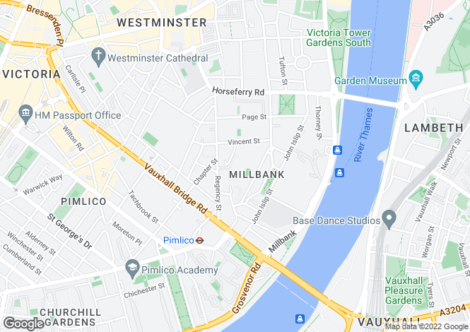 Map for Montaigne Close, Westminster, LONDON