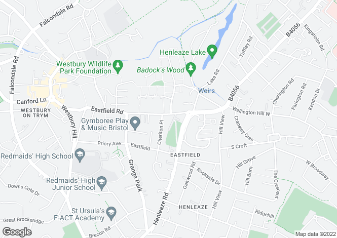 Map for Eastfield Road- Westbury on Trym