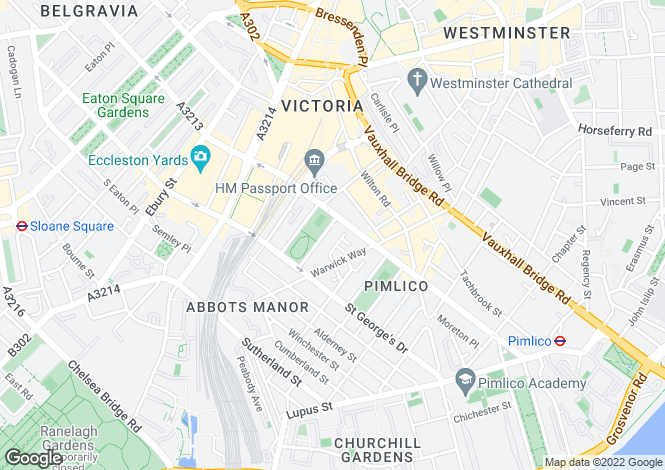 Map for Vincent Square, Pimlico, Westminster  Aldgate