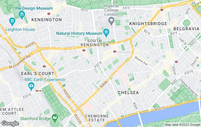 Map for John D Wood & Co, South Kensington