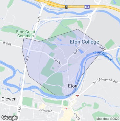 Map of property in Eton