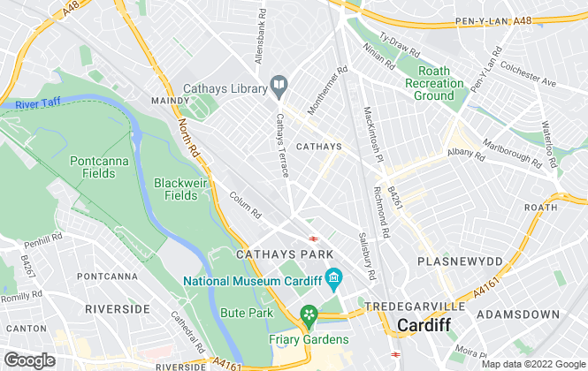 Map for Horizon Student Properties, Cardiff