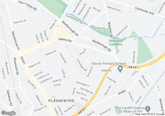 Map for Roath Court Road, Roath, CARDIFF, South Glamorgan