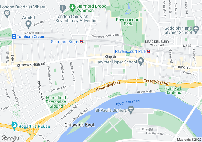 Map for Black Lion Lane, London, W6
