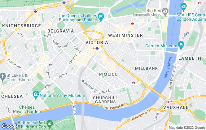 Map for Winkworth, Pimlico