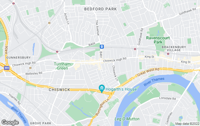 Map for Chesterton Humberts Sales, Chiswick