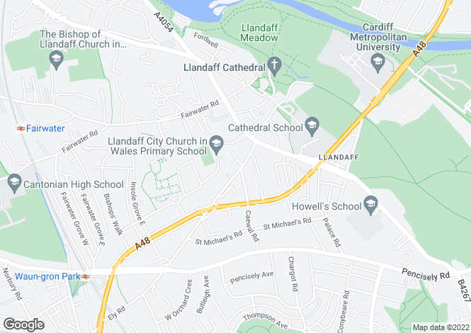 Map for Ely Road,