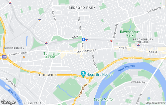 Map for Chestertons Estate Agents , Chiswick Lettings