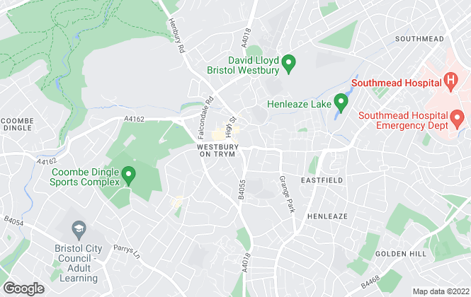 Map for Ocean, Westbury on Trym