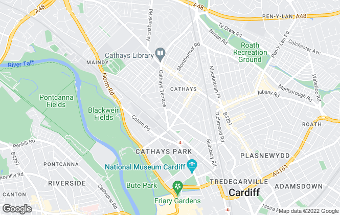 Map for Pinnacle Letting & Estate Agents, Cardiff