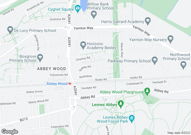 Map for Sydney Road, Abbey Wood, London, SE2 9RX