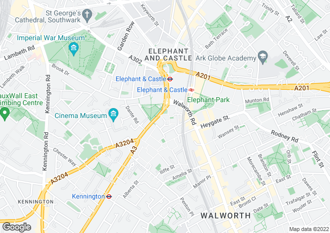 Map for Strata Apartments, Walworth Road, Elephant and Castle, SE1