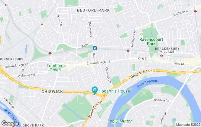 Map for Horton and Garton, Chiswick