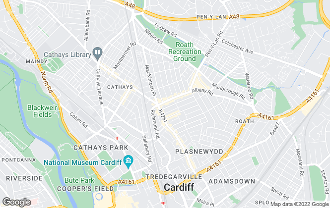 Map for James Douglas , Cardiff