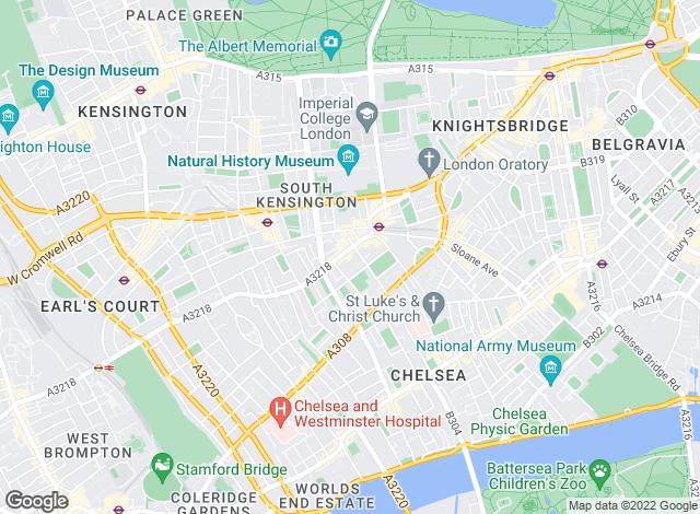 Map for Faron Sutaria Sales, South Kensington