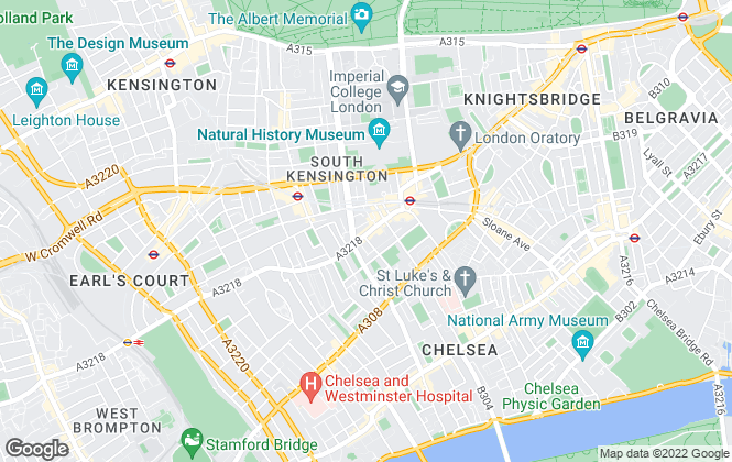Map for Strutt & Parker - Lettings, South Kensington