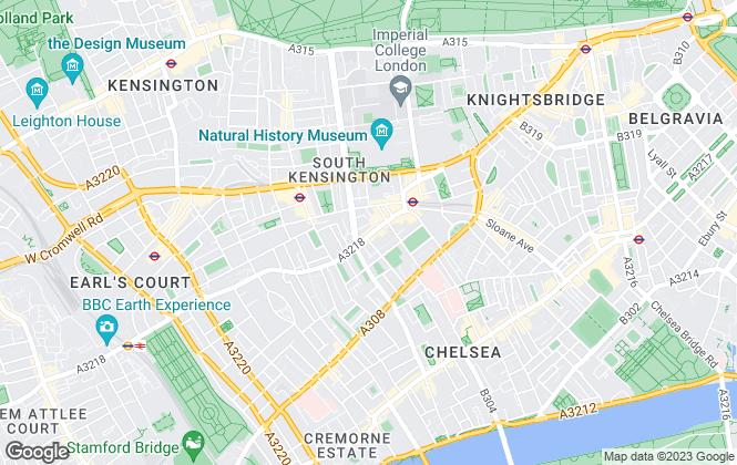 Map for Strutt & Parker, South Kensington