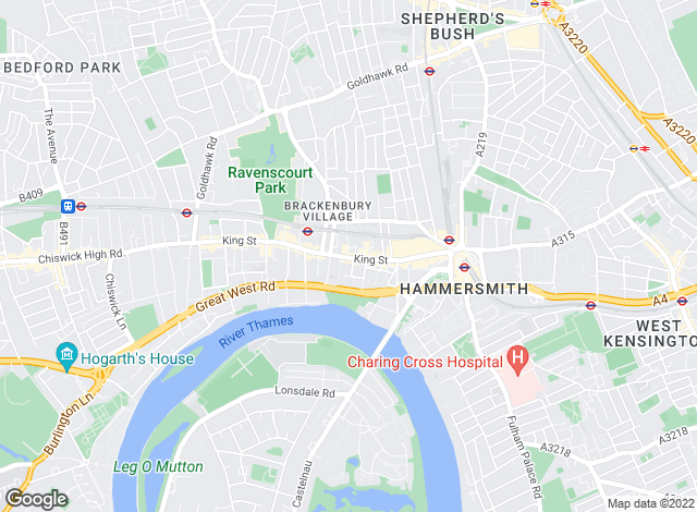 Map for Veritas Estates, Hammersmith