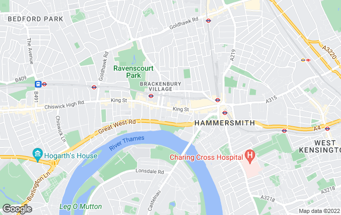 Map for Veritas, Hammersmith