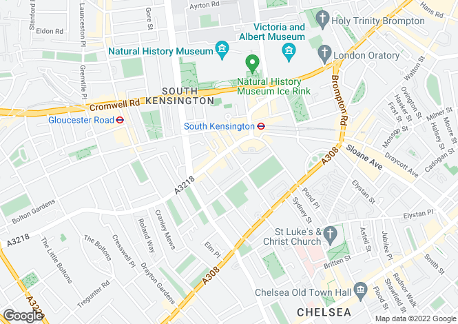Map for Sumner Place, South Kensington, London, SW7