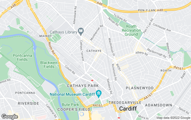 Map for JNR properties, Cardiff