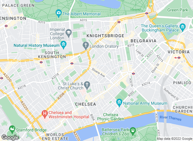Map for Chesterton Humberts Sales, Chelsea