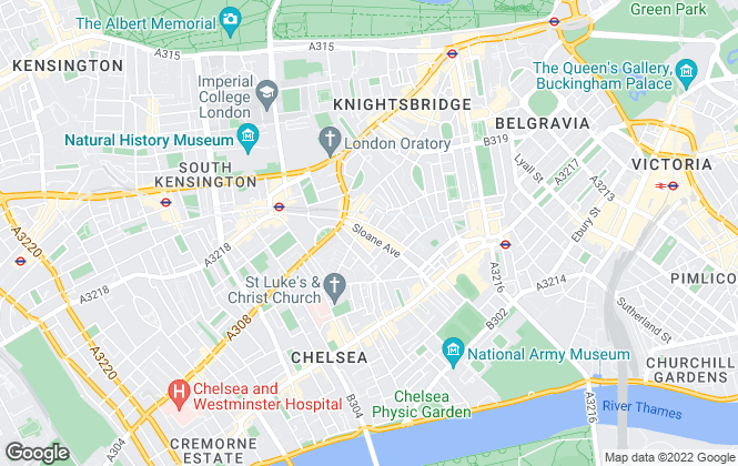 Map for Chestertons Sales, Chelsea