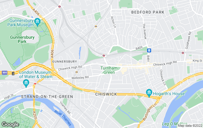 Map for Townends Lettings, Chiswick- Lettings