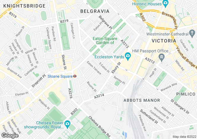 Map for Eaton Terrace, Belgravia, London, SW1W