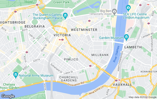 Map for Andrew Reeves, Westminster & Pimlico
