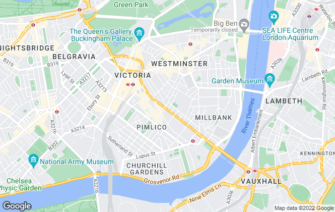 Map for RE/MAX Central London, Westminster