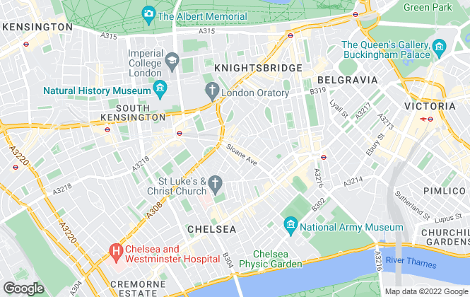 Map for Chestertons Estate Agents , Chelsea