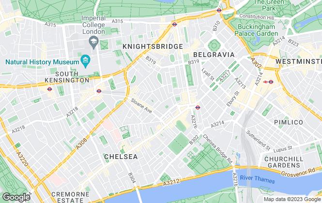 Map for Strutt & Parker, Chelsea