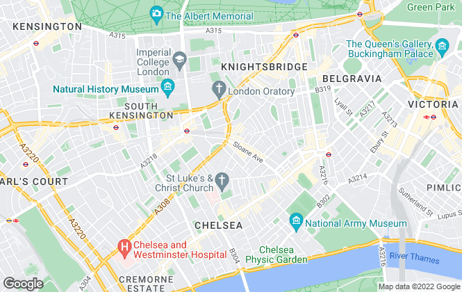 Map for Rose & Partners, London