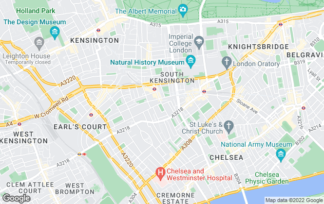 Map for Winkworth, South Kensington - Sales