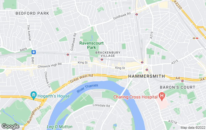 Map for Portico, Hammersmith