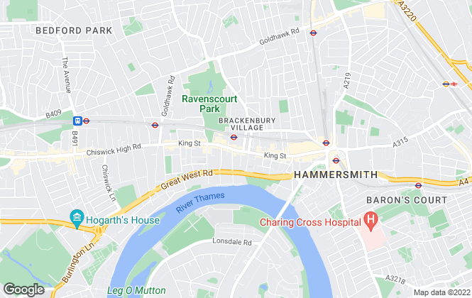 Map for Kinleigh Folkard & Hayward - Sales, Hammersmith