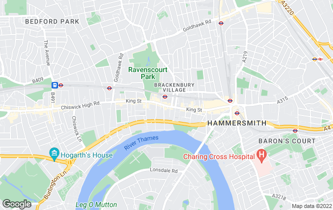 Map for Horton and Garton, Hammersmith