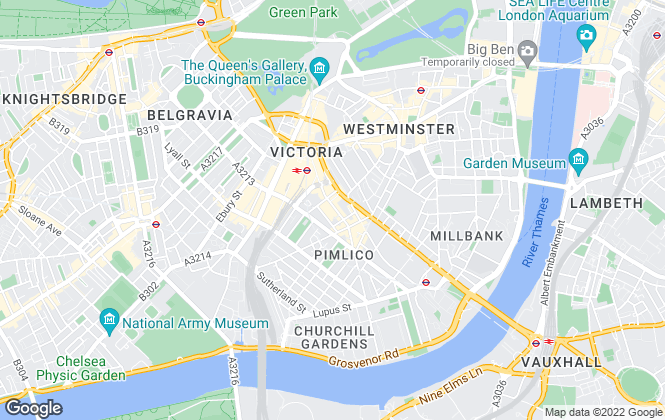 Map for Douglas & Gordon, Pimlico & Westminster