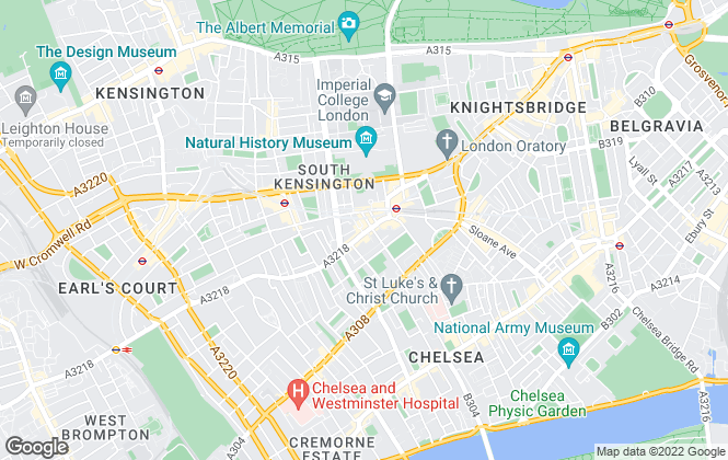 Map for Farleys, South Kensington