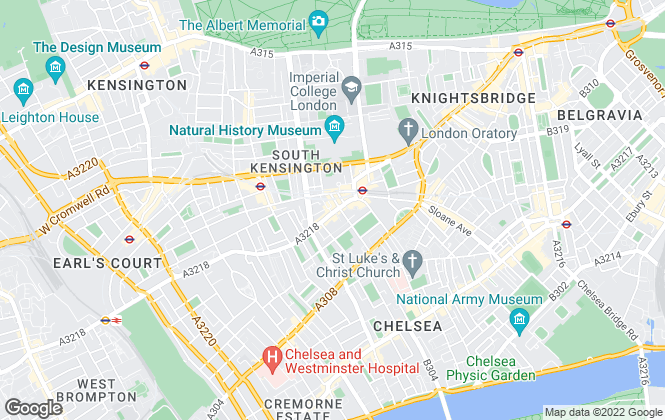 Map for Farleys Lettings, South Kensington Lettings
