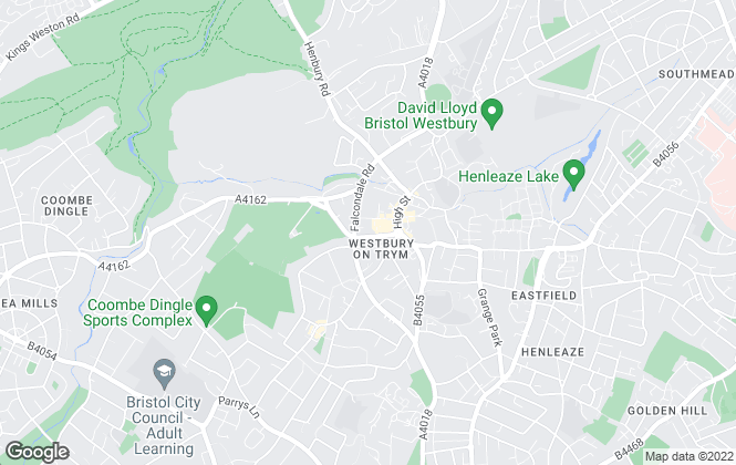 Map for CJ Hole, Westbury On Trym