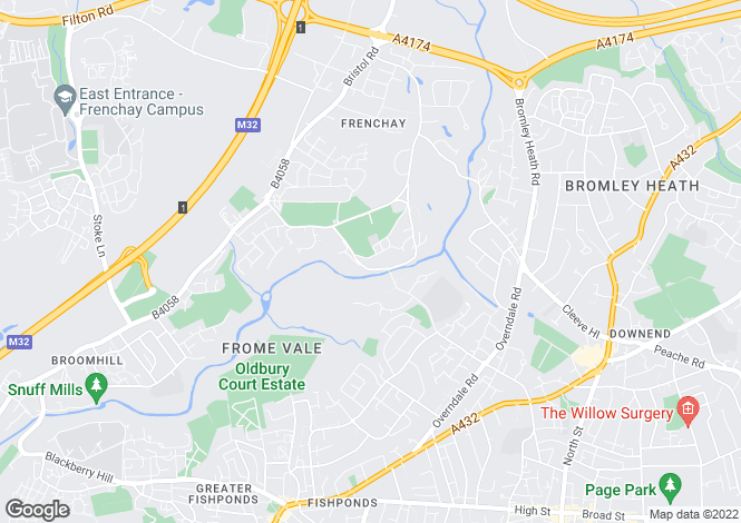 Map for Frenchay Common, Frenchay, BRISTOL, BS16