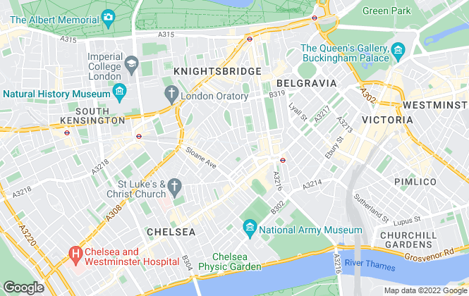 Map for Jackson-Stops & Staff , London, Chelsea