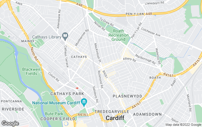 Map for Albany Property Services, Cardiff