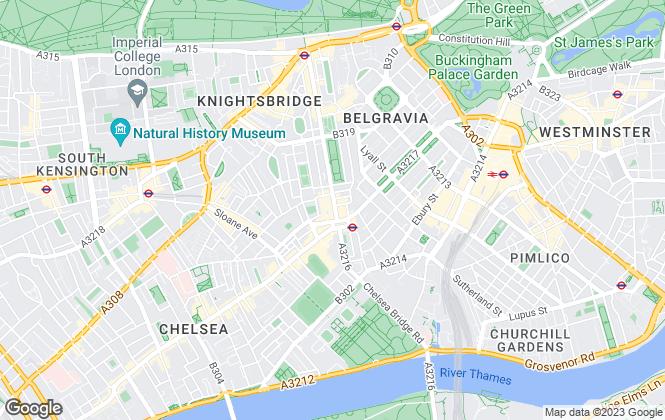 Map for Savills Lettings, Sloane Street